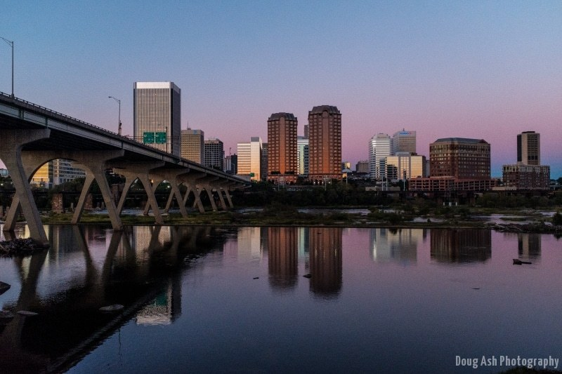 Richmond's purple reflection