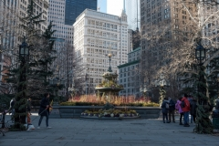 Financial District Fountain in New York City
