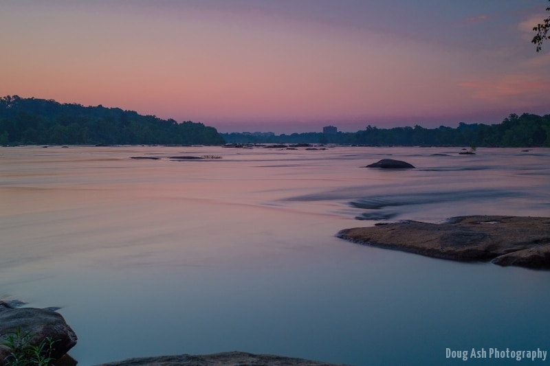 Long Exposure & sunrise colors on the James.