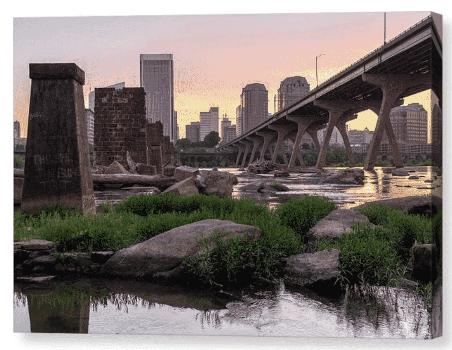 Richmond VA sunrise canvas print