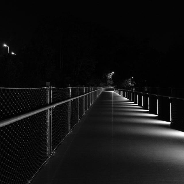 tyler Potterfield Memorial Bridge of Richmond VA in black and white