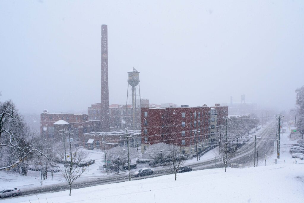 libby hill covered in snow richmond va