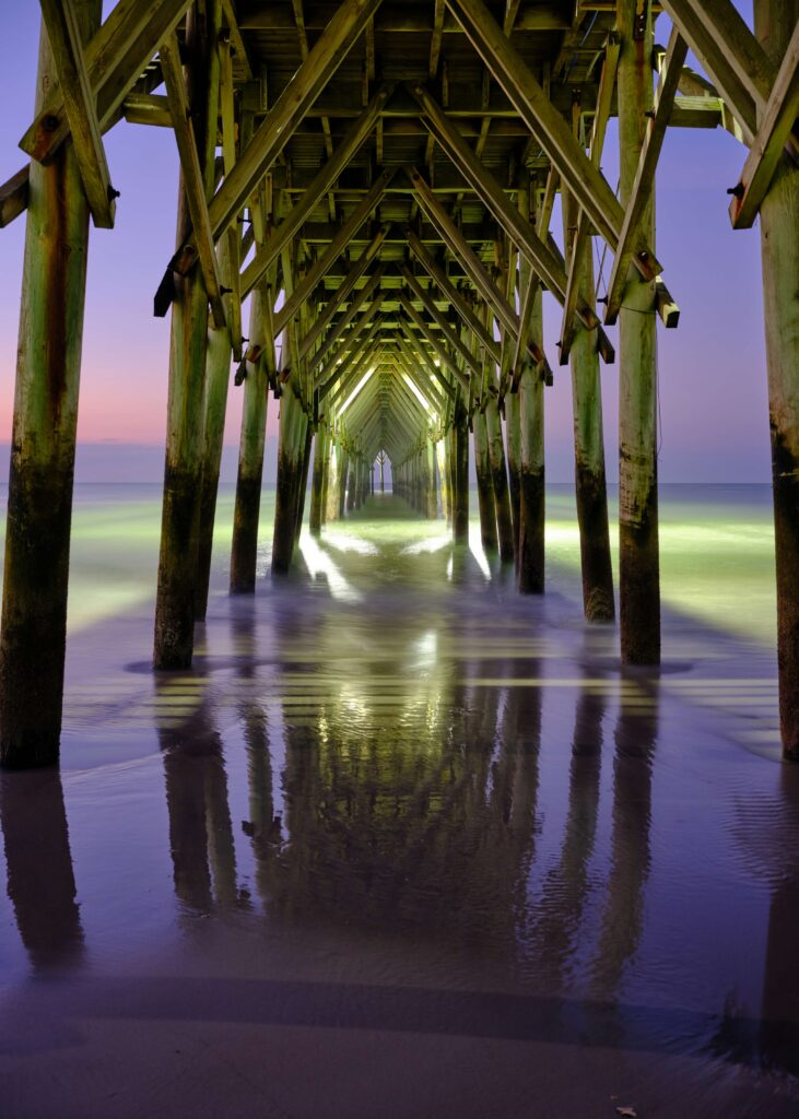 Surf City Ocean Pier beach photography print
