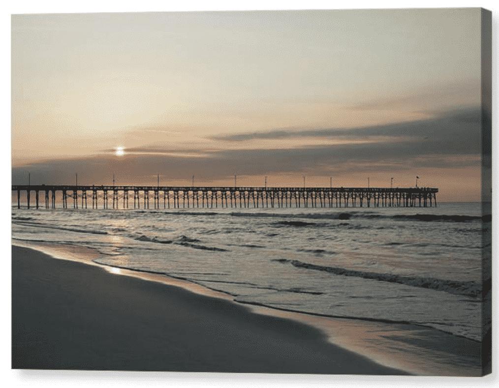 Topsail Beach NC pier sunrise