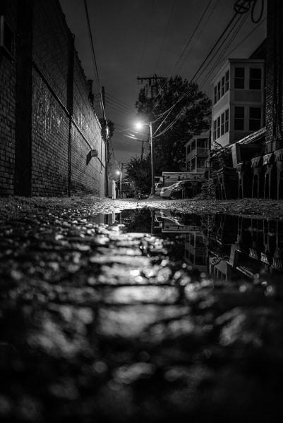 Beautiful image of an alleyway in The Fan neighborhood of Richmond VA.
